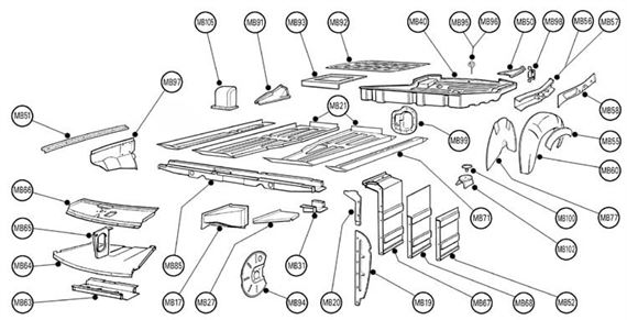 MGB Body Parts and Fittings