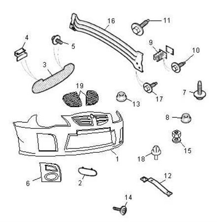 Rover 200/25/MG ZR Front Bumper & Fittings from 5D779021