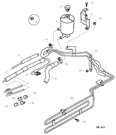 Rover 200/400 to 95 Power Steering Pipes, Hoses and Reservoir - Diesel
