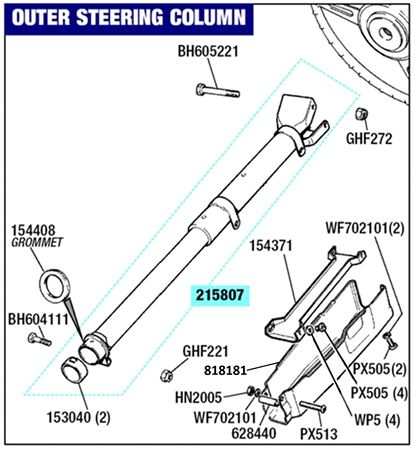 Triumph Stag Outer Steering Column