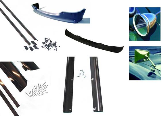 Triumph Stag Mirrors, Front Spoilers, Body Moulding and Trim Kits