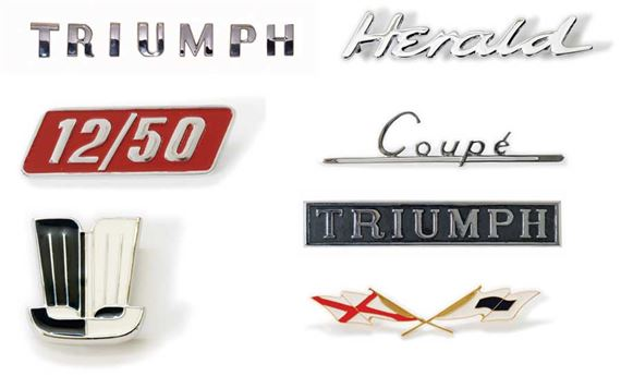 Triumph Herald Badges and Letters