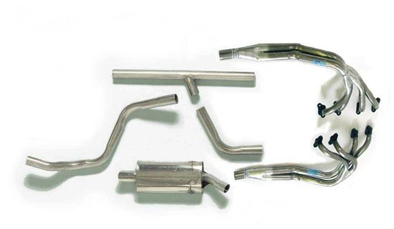 Triumph TR8 Stainless Steel Performance Sports Exhaust Systems - Single Exit Large Bore