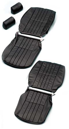 Triumph TR7 Alternative Seat Trim Kit - Leather with Vertical Pleats