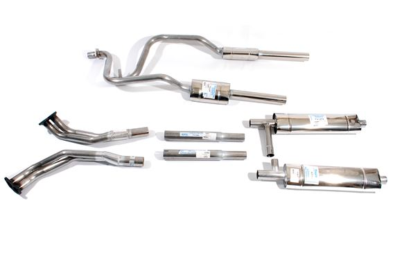 Triumph TR8 and SD1 Stainless Steel Standard Manifolds Exhaust Systems - Twin Quiet