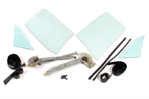 Triumph TR7 Door Glass and Seal Kit - Coupe