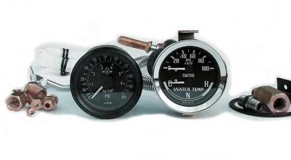 Triumph Spitfire Oil Pressure and Water Temperature Gauges