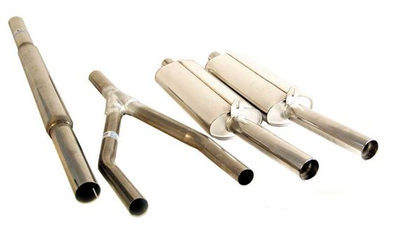 Triumph GT6 Sports Exhaust Systems - Twin Rear Silencer Part Twin Sports System