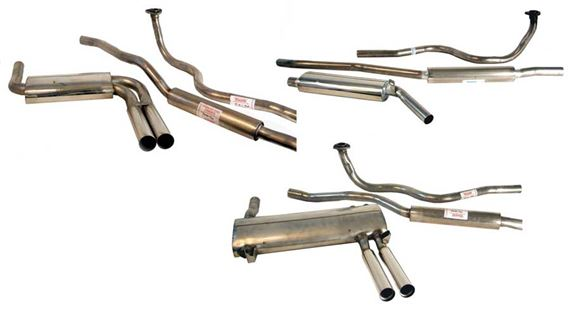 Triumph GT6 Single Rear Silencer with Standard Manifold - Single Sports Full Exhaust System