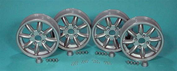 Triumph GT6 Classic 8 Spoke Alloy Road Wheels