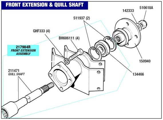 Triumph 2000/2500/2.5Pi Differential Extension Housing
