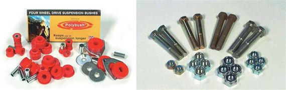 Range Rover Classic Suspension Bush and Bolt Kits - Air Suspension Vehicles