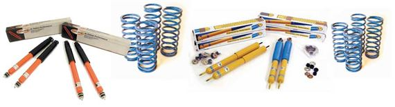 Range Rover Classic Uprated Shock Absorber & Spring Kits - Coil Spring Vehicles