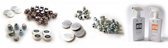 Range Rover Classic Alloy Wheel & Wheel-Tyre Packages Nuts & Centres