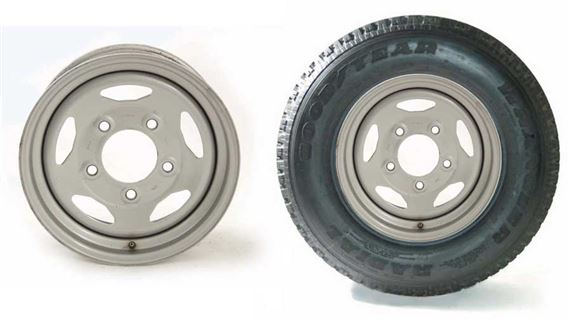 Range Rover Classic Steel Wheel and Wheel - Tyre Packages Steel