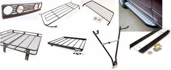 Deployed Side Steps For Range Rover Genuine Accessory: Range Rover Classic Side Steps, Rear Steps, Roof Racks And