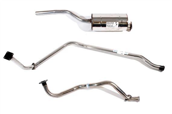 Series 2 and 3 Stainless Steel Exhaust - 86/88 inch Petrol