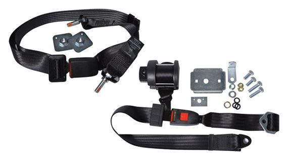 Rear Seat belt Securon 200 static Lap /& Diagonal Black RH /& LH 47cm 217cm NEW