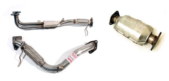 Freelander 1997-2000 Standard Exhaust System Components Petrol and Diesel Models to VIN YA999999
