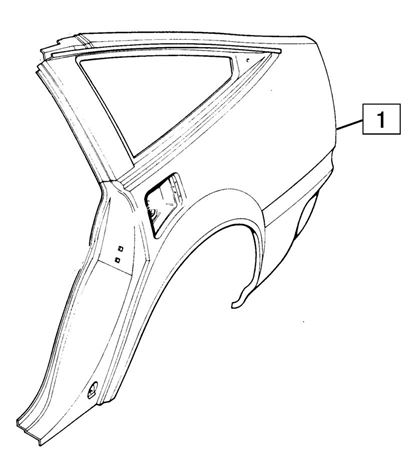 Rover SD1 Rear Wing Panels