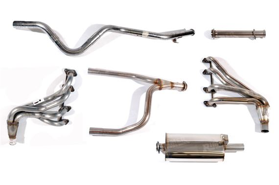 90-110 and Defender Sport Stainless Steel Exhaust Systems - V8
