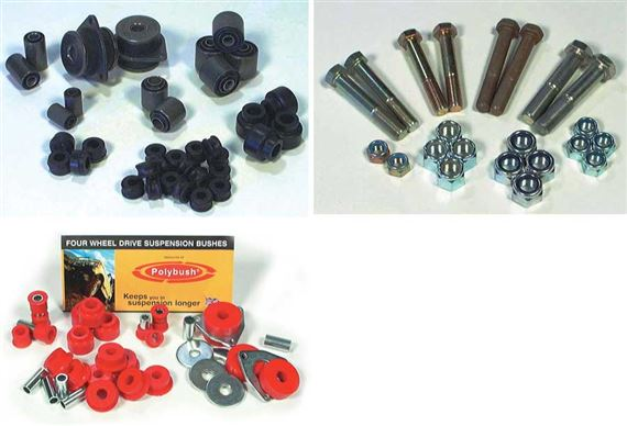 90-110 and Defender Suspension Bush and Bolt Kits