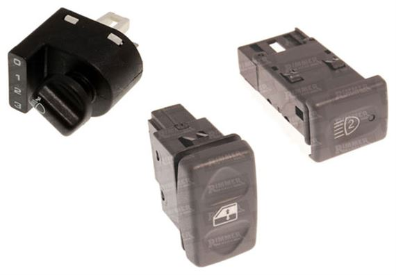90-110 and Defender Switches and Controls - Fascia Switches VIN 2A622424 On