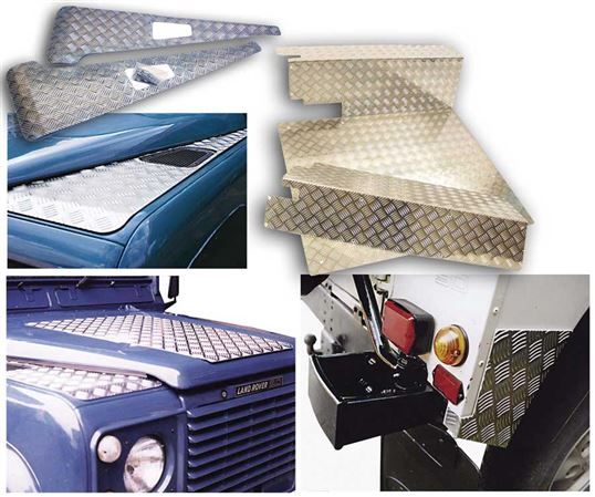 90-110 and Defender Chequer Plates and Bodywork Protection