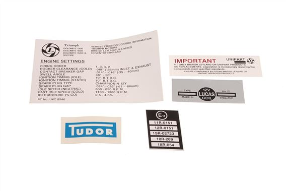 Triumph Spitfire Label Kit