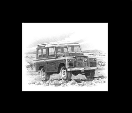 Classic Memories Land Rover Series 2 and 3 Prints