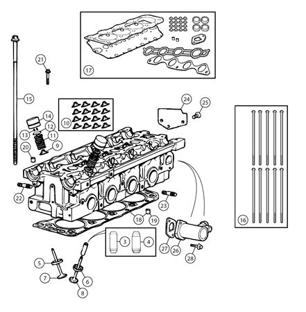 MGF and MG TF Cylinder Head Components 1.6 and 1.8 Non VVC Mgf Horn Wiring Diagram on