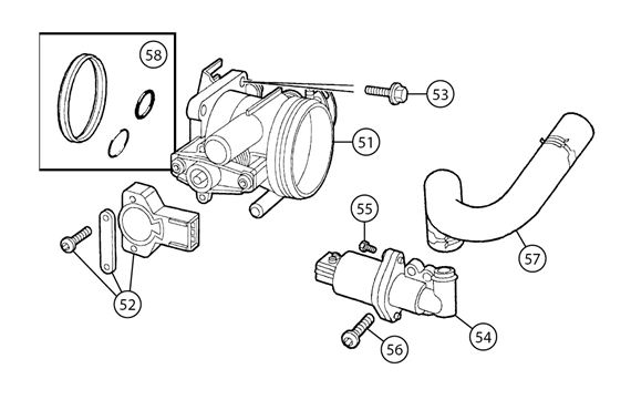 MGF and MG TF Throttle Body and Sensors - Fuel System