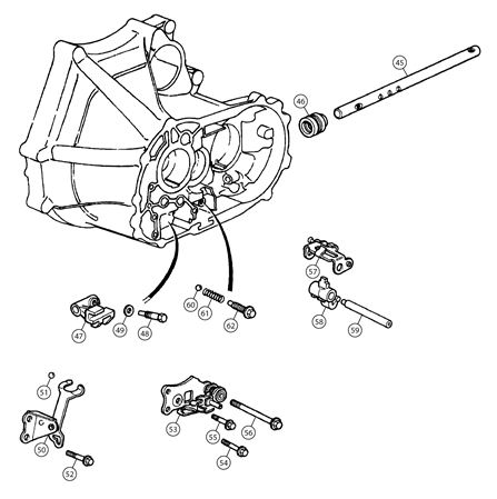 MGF and MG TF Selector Mechanism