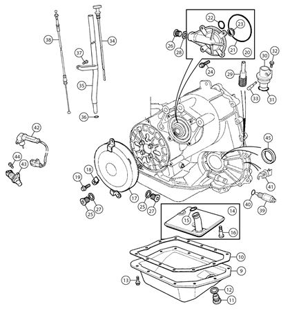 MGF & MG TF External Gearbox Components