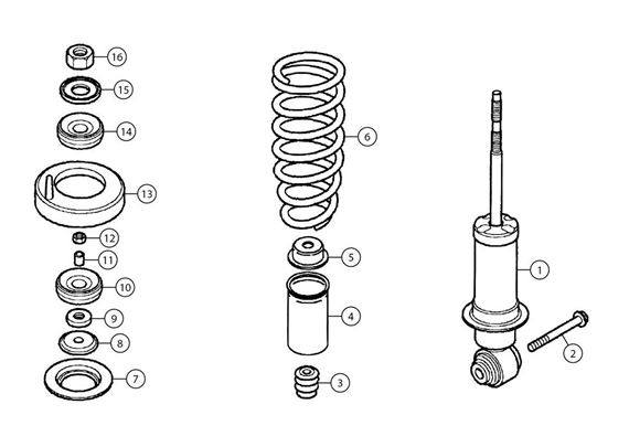 MG TF Front Shock Absorbers and Coil Springs