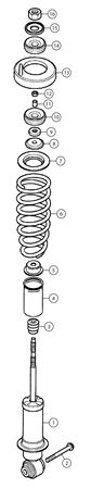 MG TF Rear Shock Absorbers & Coil Springs