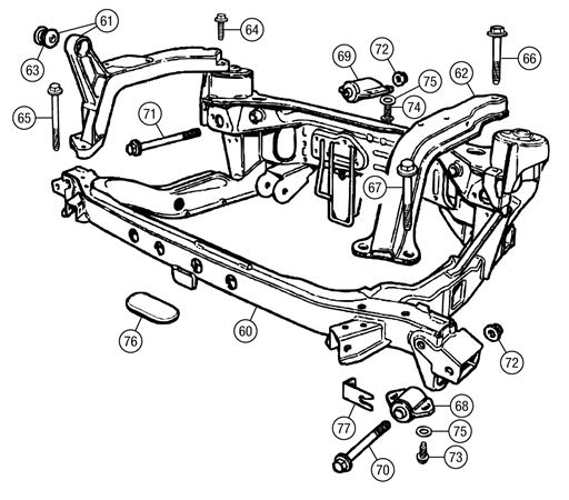 MG TF Rear Subframe