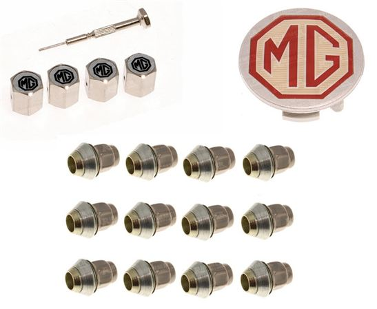 MGF and MG TF Wheel Nuts, Centre Caps and Valve Caps