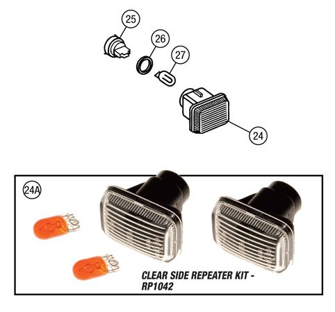 MGF & MG TF Side Repeaters Lamps - All Models