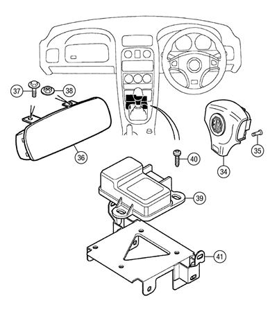 MGF and MG TF SRS Airbag System