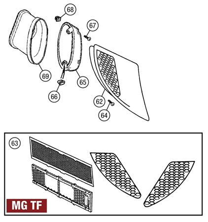 Side Air Intakes - MG TF