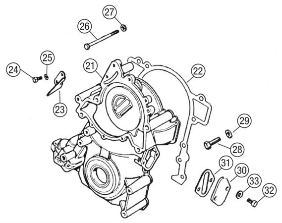 MGB Timing Cover - V8