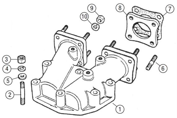 MGB Inlet Manifold Adaptor & Carb Mountings - V8