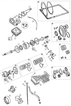 MGB Automatic Gearbox Components