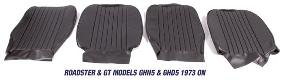 MGB Front Seat Cover Kits - Roadster & GT Models GHN5 & GHD5 1973 On
