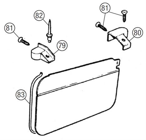 MGB Door Seals & Finishers - Roadster Models