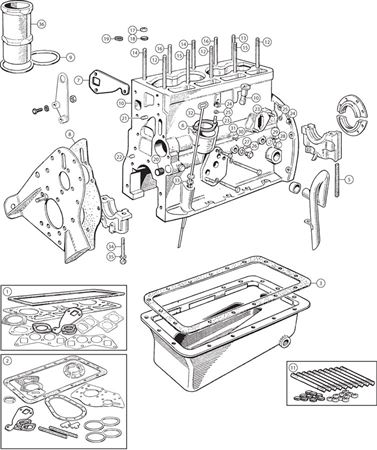 Triumph TR2-TR4A Gasket Sets and External Engine Components - 4 Cylinder