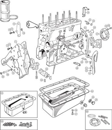 Triumph TR2-TR4A External Engine Components - 4 Cylinder