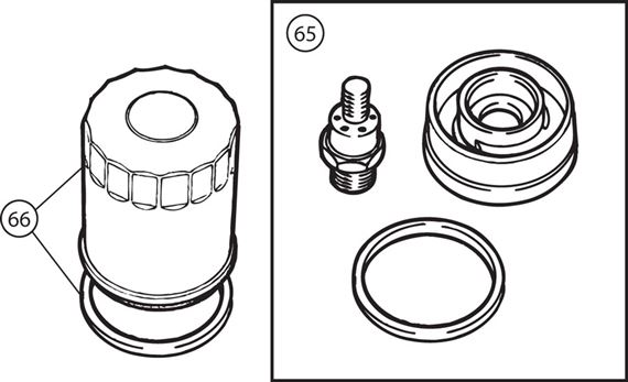 Triumph TR2-TR4A Spin-On Oil Filter Conversion Kit - 4 Cylinder