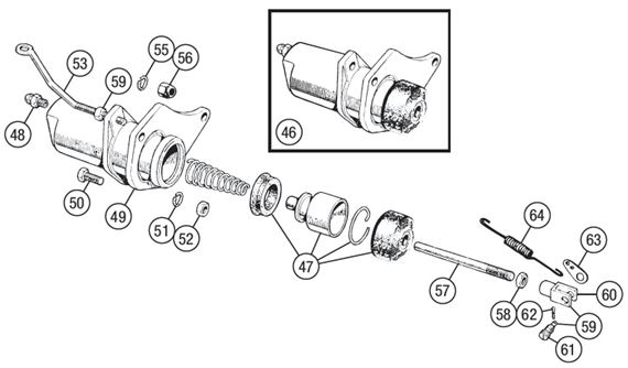 Triumph TR3-4A Slave Cylinder - Girling - TR3 from TS13046, TR3A, TR4, TR4A
